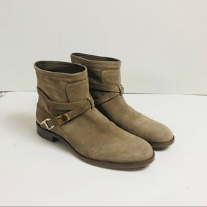CHRISTIAN DIOR Suede Boots Booties Buckles VIBRAM